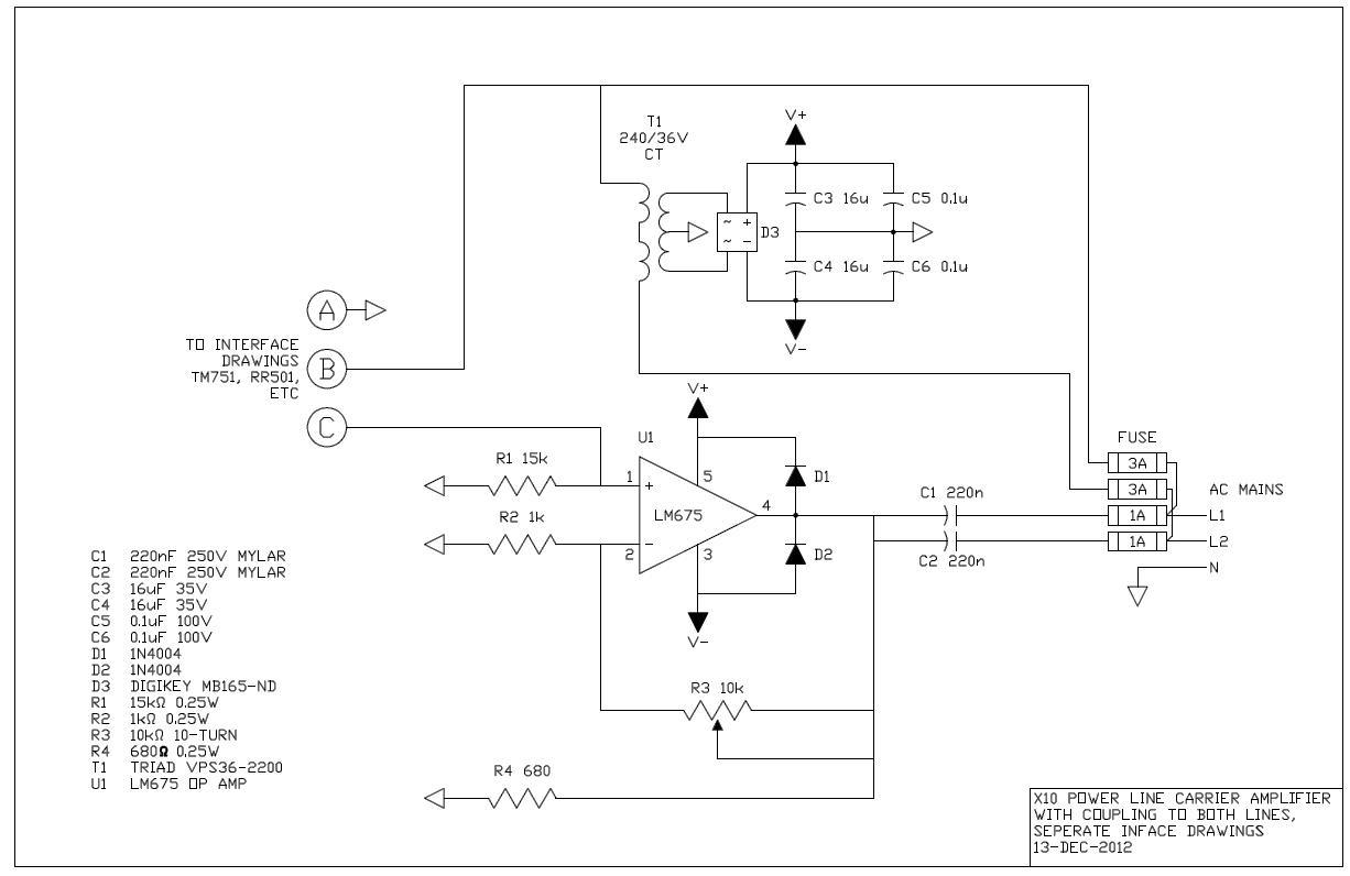 Powerline Carrier Amplifier on