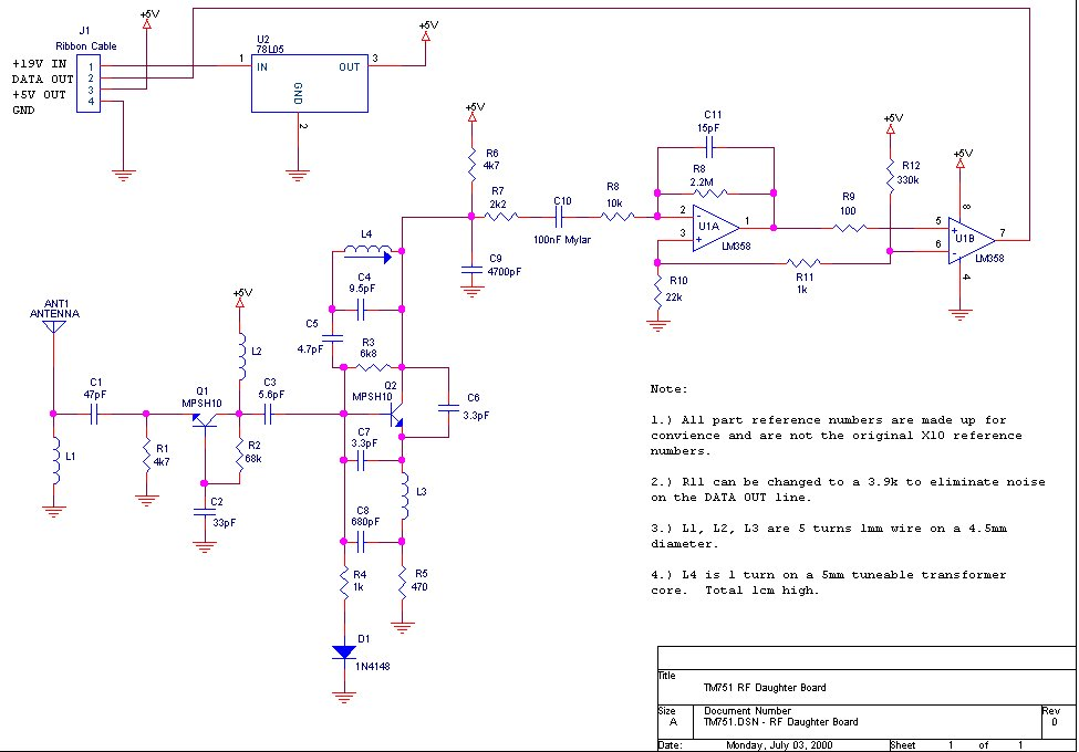 TM751_rf_daughter_board X Schematic Diagram on hvac system, am tube radio, samsung lcd tv, digital multimeter, sony tv, computer circuit board,