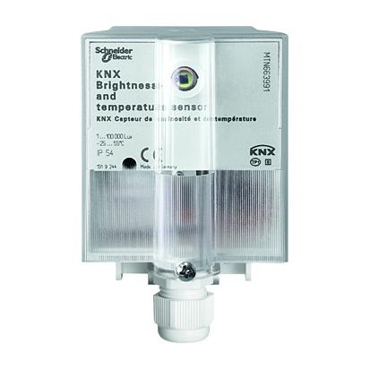 sensor combinado knx temperatura y luminosidad